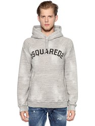 Dsquared Distressed Hooded Cotton Sweatshirt