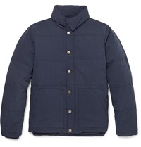 Saturdays Surf Nyc Tyson Quilted Twill Down Jacket Blue