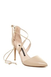 French Connection Elise D'orsay Wraparound Lace Pump Beige