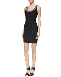 Parker Black Renee Body Conscious Crystal Neck Dress Black