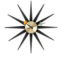 Vitra George Nelson Sunburst Wall Clock Black