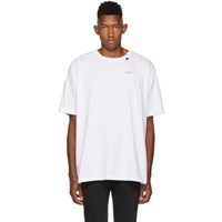 Off White And Black Abstract Arrows T Shirt