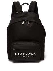 Givenchy Urban Leather Trimmed Backpack Black White