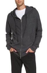 Vince Men's Oversize Cashmere Zip Hoodie Shadow