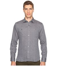 Todd Snyder Linen Two Pocket Shirt Charcoal
