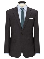 Chester Barrie By Semi Milled Wool Cashmere Tailored Suit Jacket Charcoal