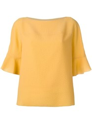 See By Chloe Ruffled Sleeves Blouse Yellow Orange