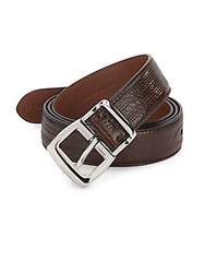 Brunello Cucinelli Seamed Leather Belt Dark Brown
