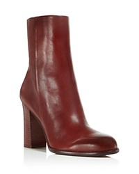 Sam Edelman Reyes High Heel Booties Rust Red
