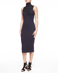 Rag And Bone Rag And Bone Carolyn Sleeveless Lace Turtleneck Dress