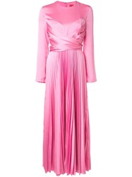 Solace London Pleated Long Dress Pink