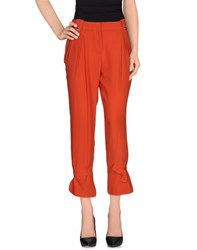 Atos Lombardini Trousers Casual Trousers Women Rust