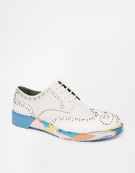 Anthony Miles Brooke Wedge Brogues White
