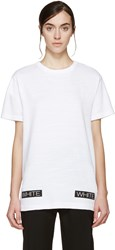 Off White White 'Blue Collar' T Shirt