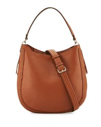 Rebecca Minkoff Unlined Convertible Braided Hobo Bag Almond