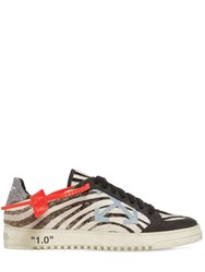 Off White 20Mm Arrow Zebra Ponyskin Sneakers Black