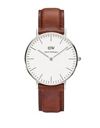 Daniel Wellington Classic St. Mawes Leather Strap Watch Brown