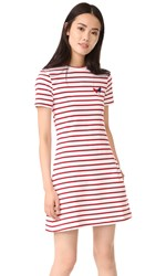 Etre Cecile A Line Mini Dress Red Breton Stripe