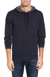 Tailor Vintage Men's Reversible Merino Wool Hoodie Navy Med