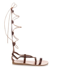 Ancient Greek Sandals Sofia High Gladiator Lace Up Leather Sandals