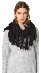 Hat Attack Knit Loop Scarf Black