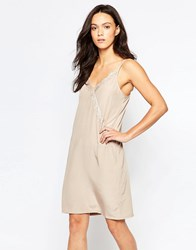 Minimum Elmira Lace Trim Cami Dress Dusty Sand Pink