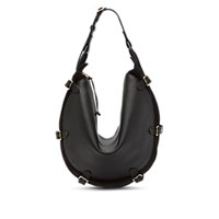 Altuzarra Play Large Leather And Suede Hobo Bag Black
