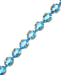 Effy Collection Effy Blue Topaz Tennis Bracelet In 14K Rose Gold 27 7 8 Ct. T.W.