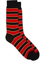 Richard James Striped Mid Calf Socks Black