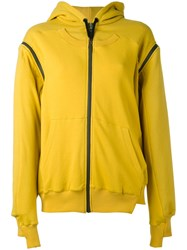 A.F.Vandevorst Zipped Hoodie Women Cotton 40 Yellow Orange