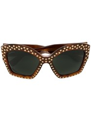 Gucci Star Studded Sunglasses Brown