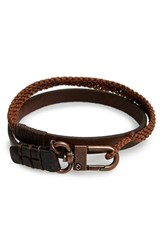 Men's Caputo And Co. Knotted Wrap Bracelet Copper