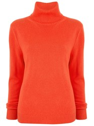 Aspesi Knit Turtleneck Sweater Orange