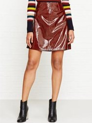 Paul Smith Ps By Patent Leather Skirt Red