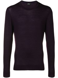 Paul Smith Ps By Crew Neck Sweater Purple