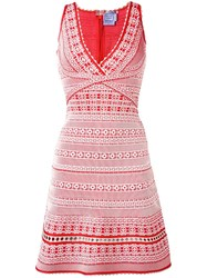Herve Leger Embroidered Dress