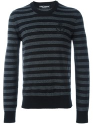 Dolce And Gabbana Striped Jumper Black