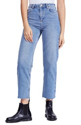 Bdg Urban Outfitters Pax High Waist Jeans Light Denim