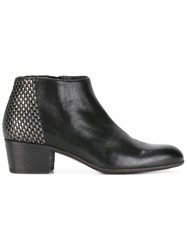 Pantanetti Metallic Detail Ankle Boots Black