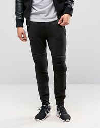 Only And Sons Sweat Jogger With Cuff Bottom Knee Detail Black