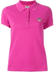 Kenzo Mini Tiger Polo Shirt Pink Purple