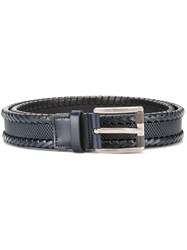 Salvatore Ferragamo Braided Belt Blue