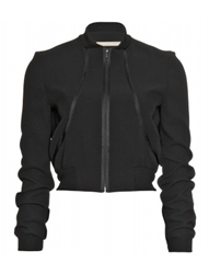 Mytheresa.Com Victoria Beckham Silk And Wool Baseball Jacket Luxury Fashion For Women Designer Clothing Shoes Bags