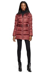 Women's Lauren Ralph Lauren Belted Quilted Jacket With Faux Shearling Trim