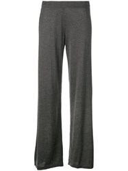 The Row Wide Leg Trousers Grey
