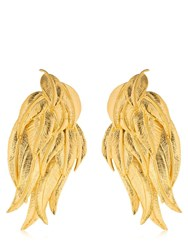 Aurelie Bidermann Elvira Clip On Earrings Gold