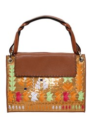 Etro Embroidered And Sequined Leather Bag