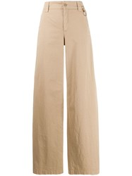 Red Valentino Wide Leg Trousers Neutrals