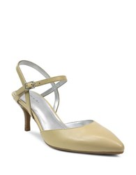 Tahari Tara Faux Leather Pumps Panna