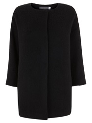 Mint Velvet Cocoon Coat Black